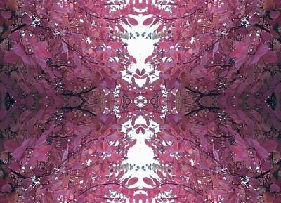 Photograph - Autumn Tree Leaves Fractal C3 Mid by Julia Woodman