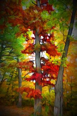 Impressionism Painting - Autumn Tree by Lilia D