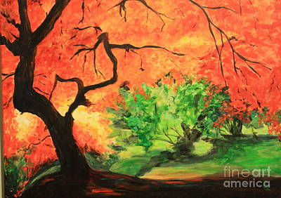 Painting - Autumn Tree by Nancy Czejkowski
