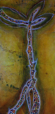 Cradle Board Painting - Autumn Tree by Paula Snyder
