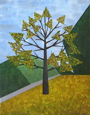 Painting - Autumn Tree by Tamara Savchenko