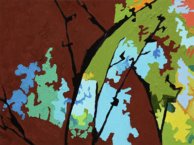 Painting - Autumn Trees #5 by John Lautermilch