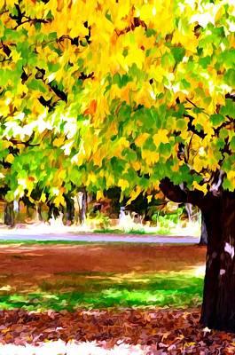 Autumn Trees 6 Print by Lanjee Chee