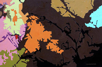 Painting - Autumn Trees #7 by John Lautermilch