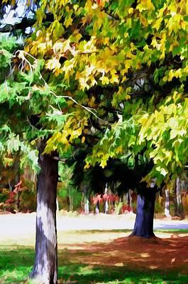 Autumn Trees 7 Art Print by Lanjee Chee