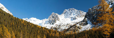 Scenic View In France Photograph - Autumn Trees And First Snow In French by Panoramic Images