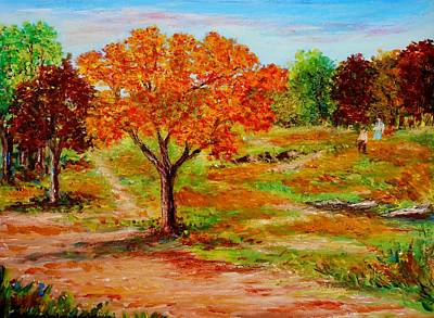 Painting - Autumn Trees by Constantinos Charalampopoulos