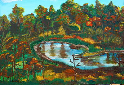 Painting - Autumn Trees In Virginia by Jimmy Clark