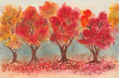 Autumn Trees Original