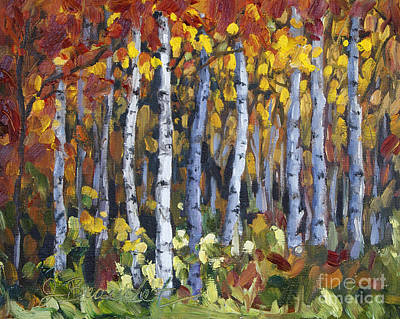 Painting - Autumn Trees by Jennifer Beaudet
