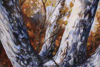 Autumn Trees Art Print by Laura Ury