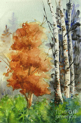Mohamed Painting - Autumn Trees by Mohamed Hirji