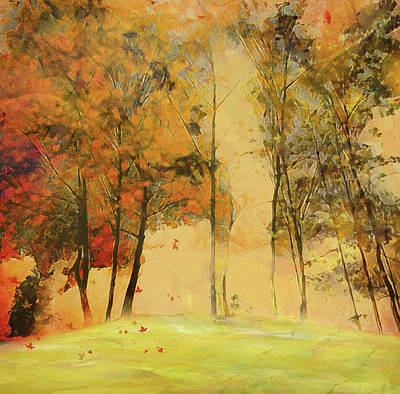 Digital Art - Autumn Trees by Nina Bradica