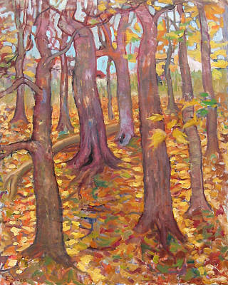 Painting - Autumn Trees by Paul Emory