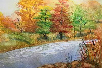 Painting - Autumn Trees by Remegio Onia