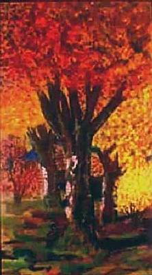 Painting - Autumn Trees by Tanna Lee M Wells