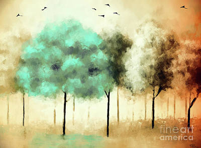 Painting - Autumn Trees by Tina LeCour