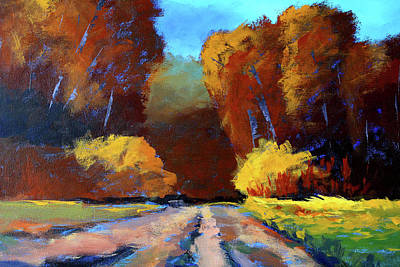 Painting - Autumn Trek by Nancy Merkle