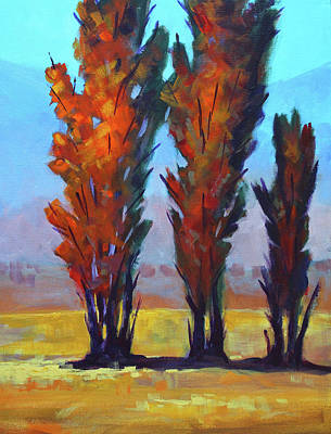 Painting - Autumn Trio by Nancy Merkle