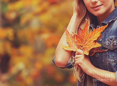 Photograph - Autumn Vacation Concept by Anna Om