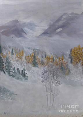 Mystical Landscape Painting - Autumn Valley Mist by Stanza Widen