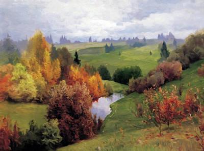 Autumn Art Mixed Media - Autumn Valley Of Dreams by Georgiana Romanovna
