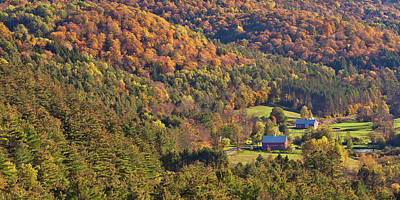 Photograph - Autumn Valley Panorama by Alan L Graham