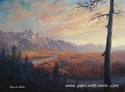 Kevin Hill Painting - Autumn Valley River by Kevin Hill