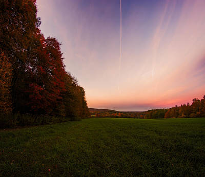 Photograph - Autumn Valley Twilight by Chris Bordeleau
