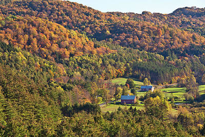 Photograph - Autumn Valley View by Alan L Graham