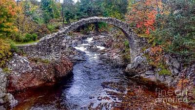 Photograph - Autumn View At Carrbridge by Joan-Violet Stretch
