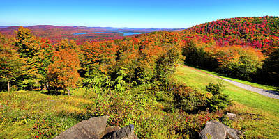 Photograph - Autumn View From Mccauley Mountain by David Patterson