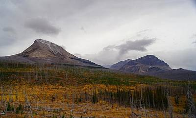 Photograph - Autumn View Of Divide And Curly Bear Mountains by Tracey Vivar