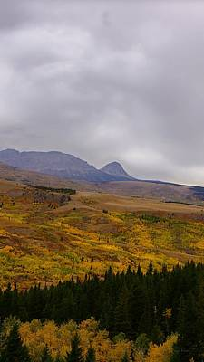 Photograph - Autumn View Of Divide Mountain, Vericle by Tracey Vivar