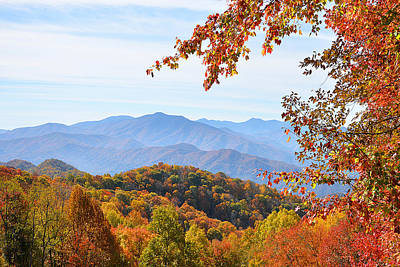 Photograph - Autumn View Of The Smokies by Alan Lenk