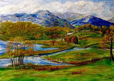 Painting - Autumn View Of The Trossachs by Joan-Violet Stretch