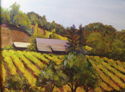 Autumn Vineyard Art Print by Bonnie Rosen