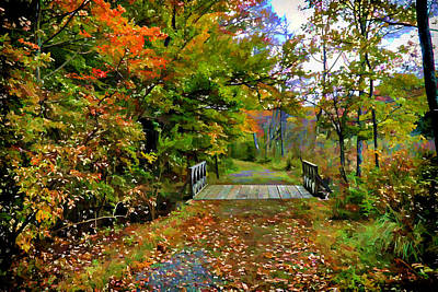 Autumn Walk Art Print by Lilia D
