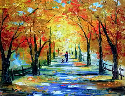 Autumn Walk Print by Olha Darchuk