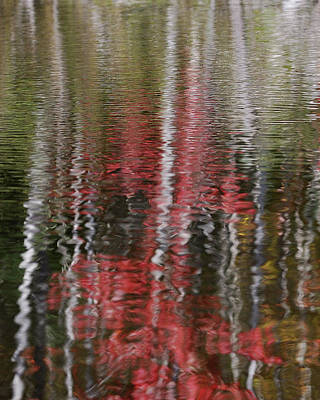 Art Print featuring the photograph Autumn Water Color by Susan Capuano