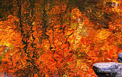 Photograph - Autumn Water Colors by Charline Xia
