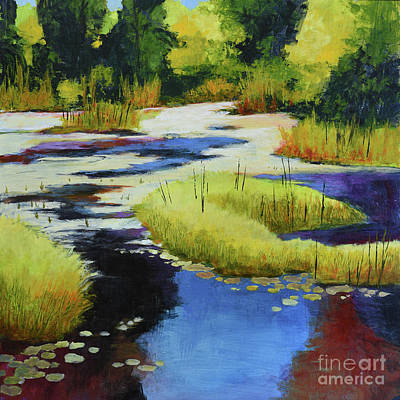 Autumn Water Garden 2 Art Print by Melody Cleary