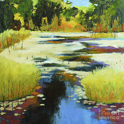 Autumn Water Garden Art Print by Melody Cleary