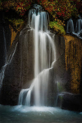Photograph - Autumn Waterfall by Chris McKenna