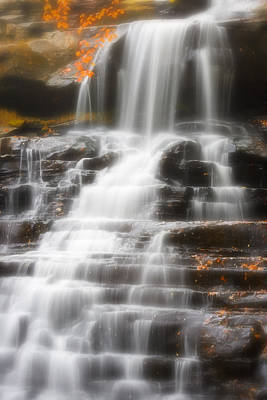 Akron Falls Photograph - Autumn Waterfall II by Kenneth Krolikowski