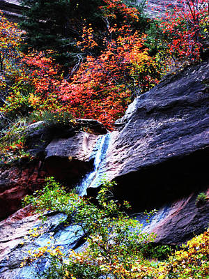 Photograph - Autumn Waterfall In The Narrows by Alan Socolik