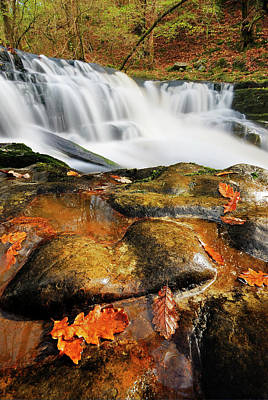 Photograph - Autumn Waterfall  by John Chivers