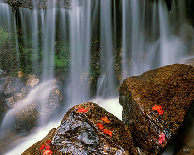 Priests Photograph - Autumn Waterfall by Leland D Howard