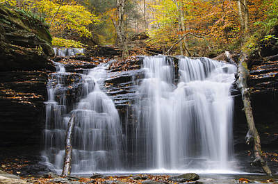 Waterfall Photograph - Autumn Waterfall by Oscar Gutierrez