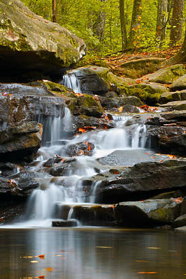 Photograph - Autumn Waterfall by Shelby  Young